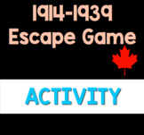 1914-1939 Canadian History Escape Game