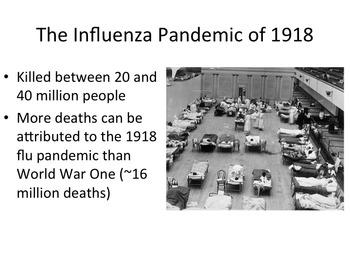 Influenza Epidemic - Pandemic of 1918 Presentation