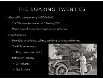 1920's & 1930's (Great Depression & Roaring Twenties) PowerPoint