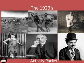 1920's - Activity Packet
