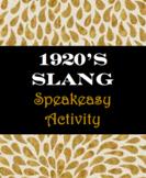 1920's Speakeasy Slang Activity