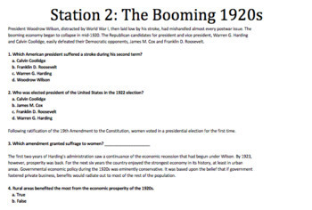 The 1920's Stations | US History