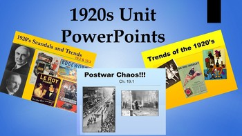 1920's Unit PowerPoints