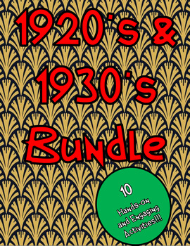 Roaring 20s and Great Depression Bundle