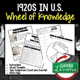 1920s Activity, Wheel of Knowledge (Interactive Notebook)