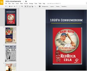 1920s Consumer Advertisement Analysis