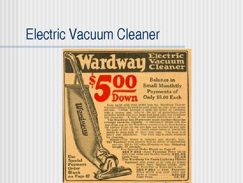 1920s:  Consumer Goods