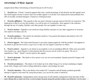 1920s Consumerism Advertisement Analysis