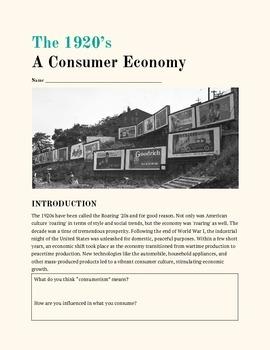 1920s Consumerism Packet