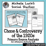 1920s Controversies Primary Source Analysis Handout Homewo