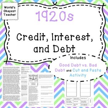 1920s: Credit, Interest, Debt