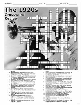 1920s Crossword Puzzle Review (Roaring 20s)