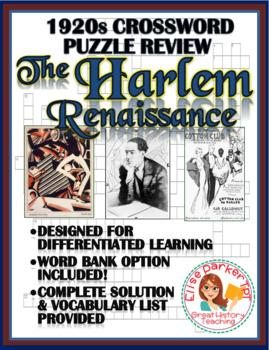 1920s Crossword Puzzle Review: Harlem Renaissance Crossword Puzzle