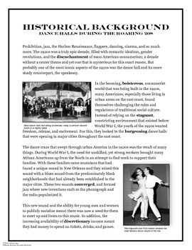 1920s: Dance Halls and Jazz Informational Text Article