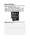 1920s-Great Depression:  Stock Market