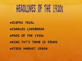 1920s--Headlines