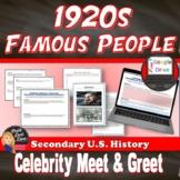 "1920's ""Meet & Greet"" – Popular Culture of the Twenties (U.S. History)"
