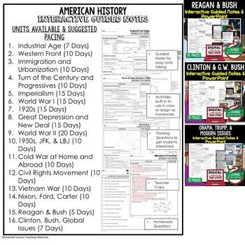 1920s Notes & PowerPoints, US History, Print, Digital, Google