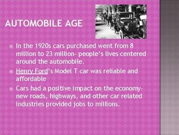 1920s Part 1 Notes