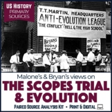1920s Scopes Trial Paired Primary Source & Extended Writing