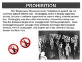 1920s - Prohibition