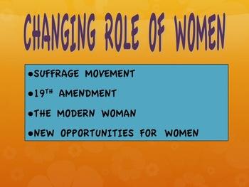 1920s-Prohibition/Changing Role of Women/Harlem Renaissance