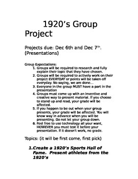 1920's Project