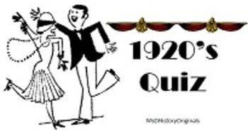 1920s Quiz 1