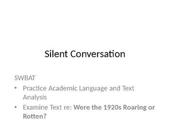 1920s Silent Conversation Instructions