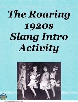 1920s Slang Intro Activity