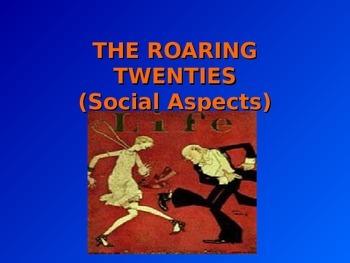 1920's Social Aspects Interwar Years United States
