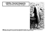 1920s Social Aspects Unit