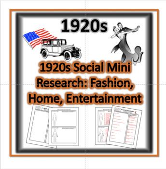 1920s Social Mini Research