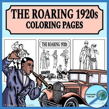 1920s The Roaring Twenties Coloring Pages