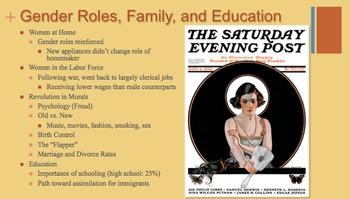 1920's (Twenties) PowerPoint - APUSH New Curriculum Framework - Period 7