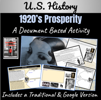 1920's America: How did Prosperity affect Americans? ~A Document Based Activity~