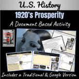 1920's America: How did Prosperity affect Americans? ~A Do