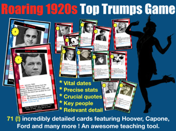Roaring 1920s Top Trumps Game - 71 cards