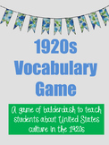 1920s Vocabulary Game