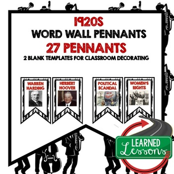 1920s Word Wall Pennants (American History)