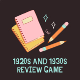 1920s and 1930s Review Game