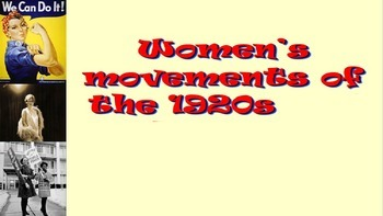 1920s to 1950s women's Rights