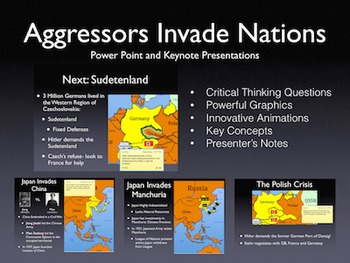 1930's Aggressors Invade Nations PowerPoint Keynote Presentations