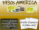 US HISTORY -1930s America - visual, textual, engaging 51-slide PPT