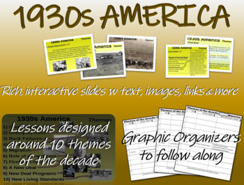 US HISTORY -1930s America - visual, textual, engaging 51-s