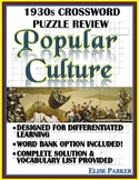 1930s Crossword Puzzle Review: Culture of the 1930s