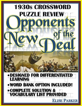 1930s Crossword Puzzle Review: Opponents of the New Deal
