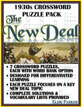 New Deal Puzzle Pack -- Seven Differentiated Crossword Puzzles