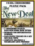 New Deal Puzzle Bundle -- Seven Differentiated Crossword Puzzles