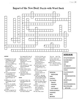 1930s Crossword Puzzle Review: Impact of the New Deal